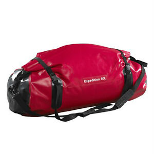 Caribee Expedition 80LT Duffel Waterproof Roll Close Bag RED