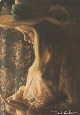 Postkarte David Hamilton Akt nude nus nudo blonde junge Frau Pin-up girl Hut hat