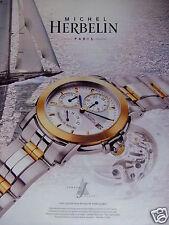PUBLICITÉ 1995 MICHEL HERBELIN NEWPORT CLASS - VOILIER - ADVERTISING