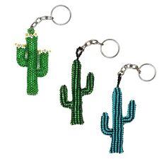 KC123 Keychain Guatemala Fair Trade Beaded Cactus Assorted Artisan Made Unique