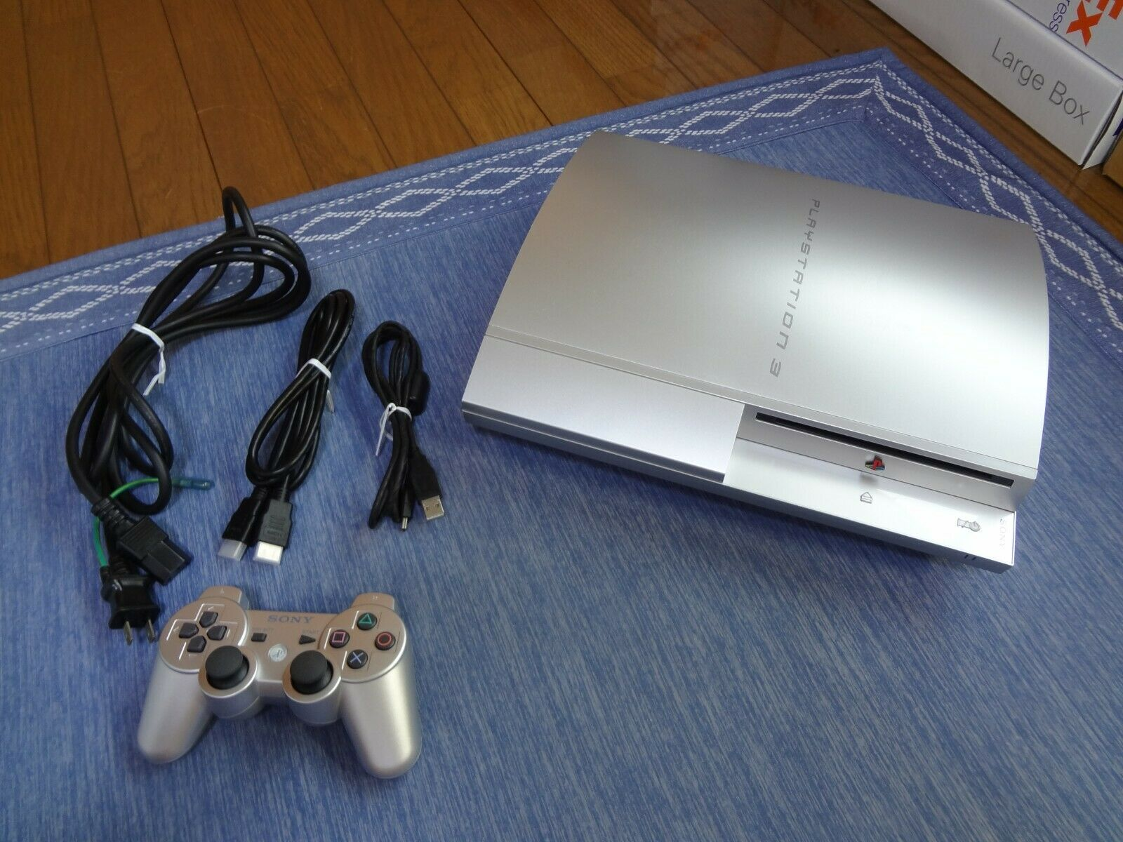 SONY PlayStation3 PS3 40GB Silver console system Tested Work