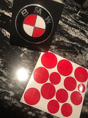 BLACK AND WHITE BMW Emblem Color Stickers Overlays Vinyl Decal Custom Emblem
