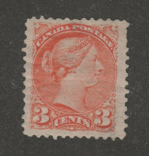 Canada 1890s 3c small queen Scott #41 VF centering Mint hinge remnant