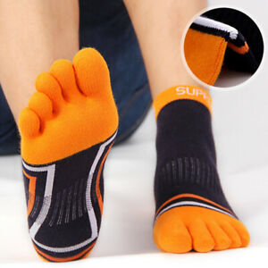 Men-039-s-1-Pair-Men-Mesh-Meias-Sports-Running-Five-Finger-Toe-Socks-Casual-CottWLO