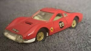 Vintage-Diecast-Dinky-Toys-216-Dino-Ferrari-Sports-Car-with-Opening-Doors-VGC