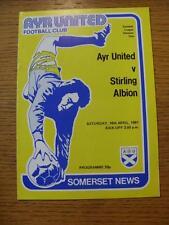 18/04/1981 Ayr United v Stirling Albion  (No Apparent Faults)
