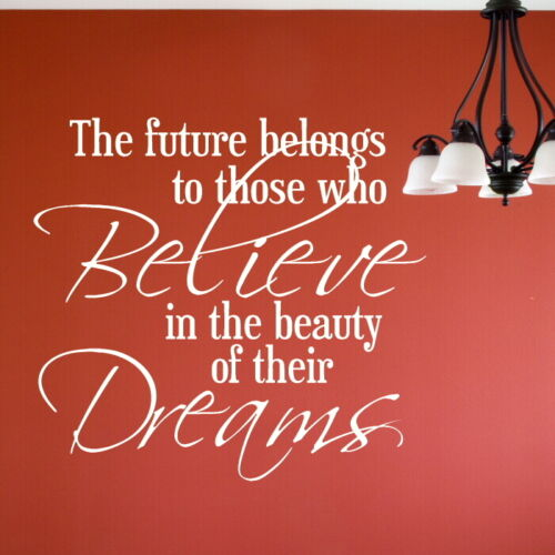 Future Believe Beauty Big Motivational Quote DAQ41 Inspirational Wall Quote
