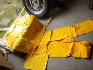 NOS Slip Streamer Yellow Foul Weather Motorcycle Rain Suit Gear RainSuit Medium