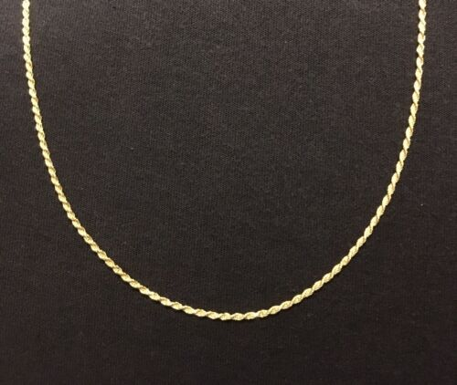 Gold Chain 14k Gold Vermeil Rope Chain 18in 2mm .925 Italy Stamped