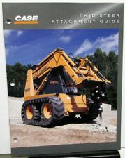 1997 Case Dealer Sales Brochure Skid Steer Attachment Guide Tools Accessories