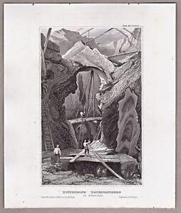 Schweden-Bergbau-Kupfermine-Katharineberg-in-Falun-Uppland-Stahlstich-1850