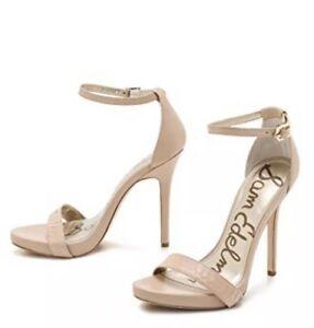 a424728cfca Details about Sam Edelman Eleanor Beige Nude Womens 10 Heels Sandals Ankle  Strap