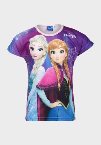 Ragazze Disney congelato T-SHIRT ELSA e ANNA 2//3-4//5-5//6-7//8