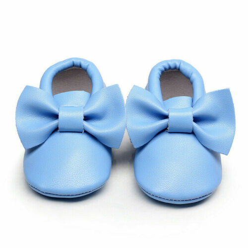 Girl Baby Shoes Infant Toddler Soft Sole Newborn Gift Moccasin Booties 0-15M