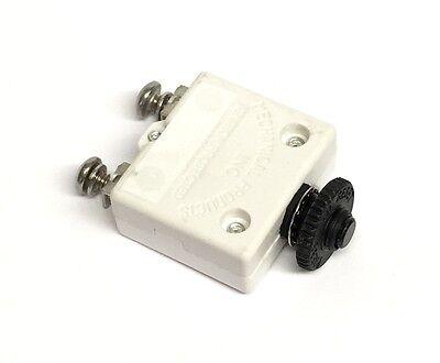 K4 15 Amp Pushbutton Reset Circuit Breaker #10 Screw Terminals
