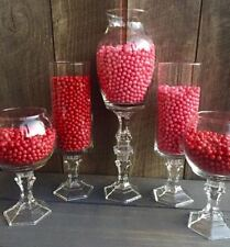 Set of 5 Glass Candy Buffet Jars