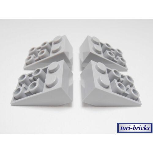 Lego Dachstein Slope 33 3x2 invers hell grau 4 Stück »NEU« # 3747b