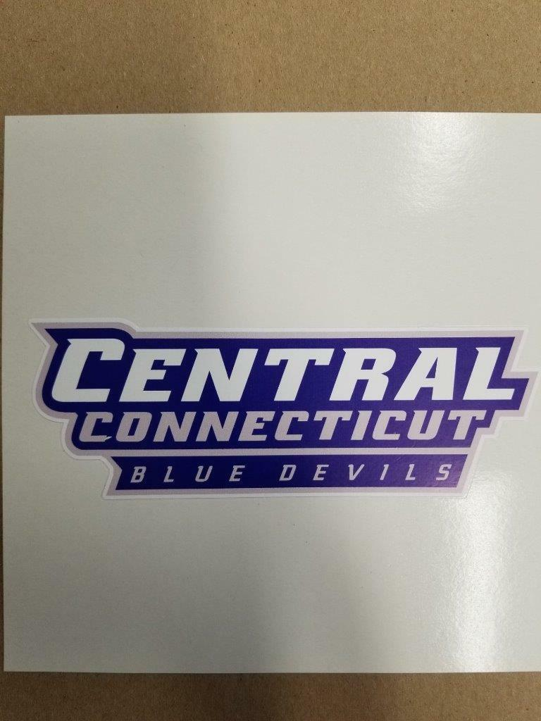 Central Connecticut bluee Devils  Cornhole board or vehicle window  decal(s)CCBD2  wholesale price and reliable quality