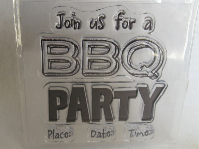 PARTY/BBQ  CLEAR STAMP CLEVER , L@@K