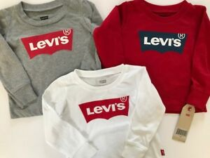 a5de462deeb0 NWT LEVI'S Baby Boy's SET OF 3. White+Gray+Red T-Shirt, Size 18 mo ...