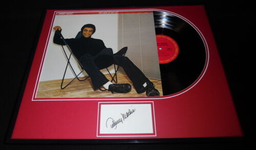 Johnny Mathis Signed Framed 1978 You Light Up My Life Record Album Display