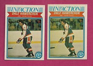 2-X-1982-83-OPC-381-JETS-DALE-HAWERCHUK-IN-ACTION-ROOKIE-CARD-INV-A4149