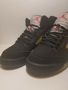 0e13cae5dbad67 NEW 2007 NIKE AIR JORDAN V 5 RETRO BLACK METALLIC SILVER FIRE RED ...