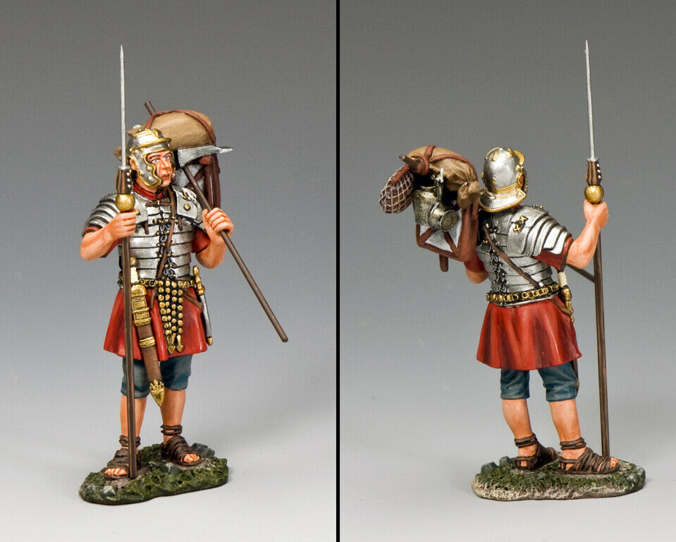 King & Land Roman Empire ROM011 Römische Legionär Stehend mit Marius Mule MIB
