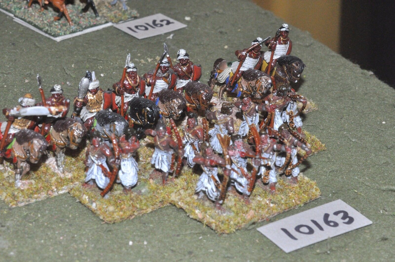 25mm classical   indian - ancient warriors 12 infantry & 8 cavalry - cav (10163)