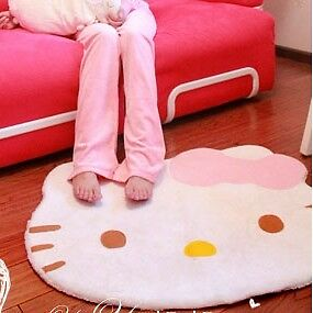 Lovely-Big-Head-Hello-Kitty-Fuzzy-Floor-Cushion-Mat-Pad-Footcloth-Rug