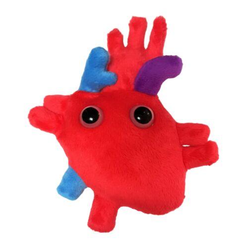 Giant Microbes cœur organe Plush Toy Original corps mou Educational cadeau 10 cm