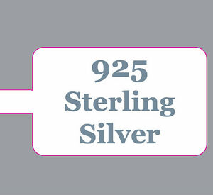 Jewellery Price Stickers Labels Dumbells Sterling Silver 925 Extra Strong Ring