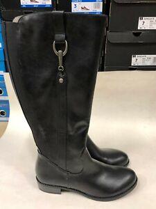 Sikora Wide Calf Boot, Black, 8 Medium