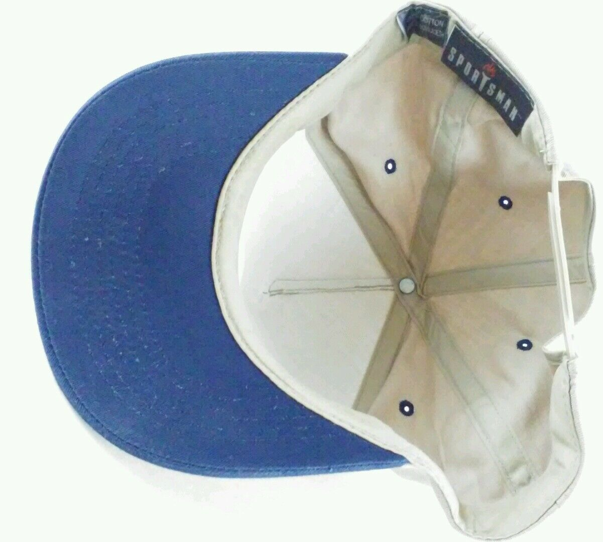100pct Cotton Official Official Cotton Broome Cadillac Ball Cap Hat Tan Blue Snap Back Sportsman b9d0cd