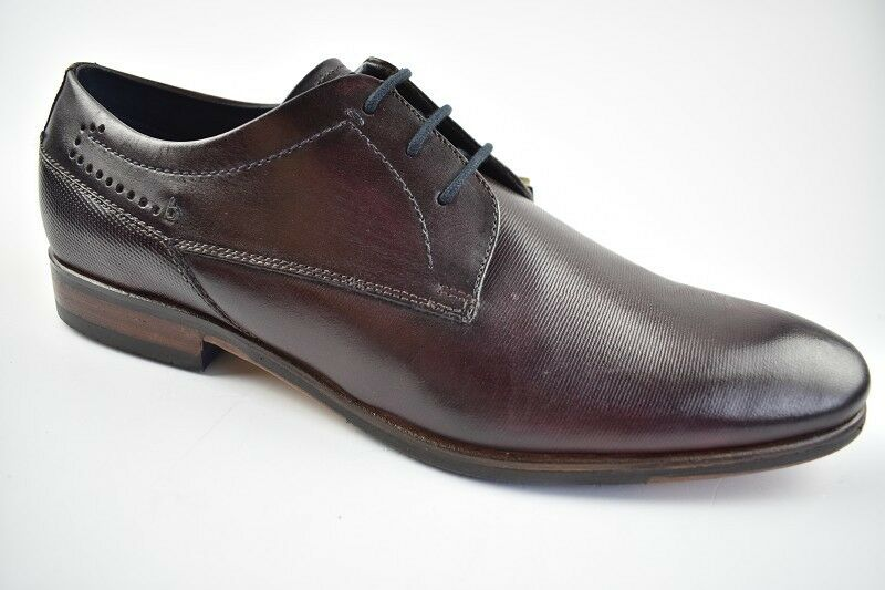 Bugatti Herren Busines-Schuhe Leder Bordeaux in der Gr. 42