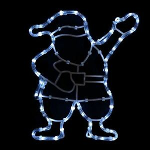 Waving santa rope light static white led silhouette christmas image is loading waving santa rope light static white led silhouette aloadofball Choice Image