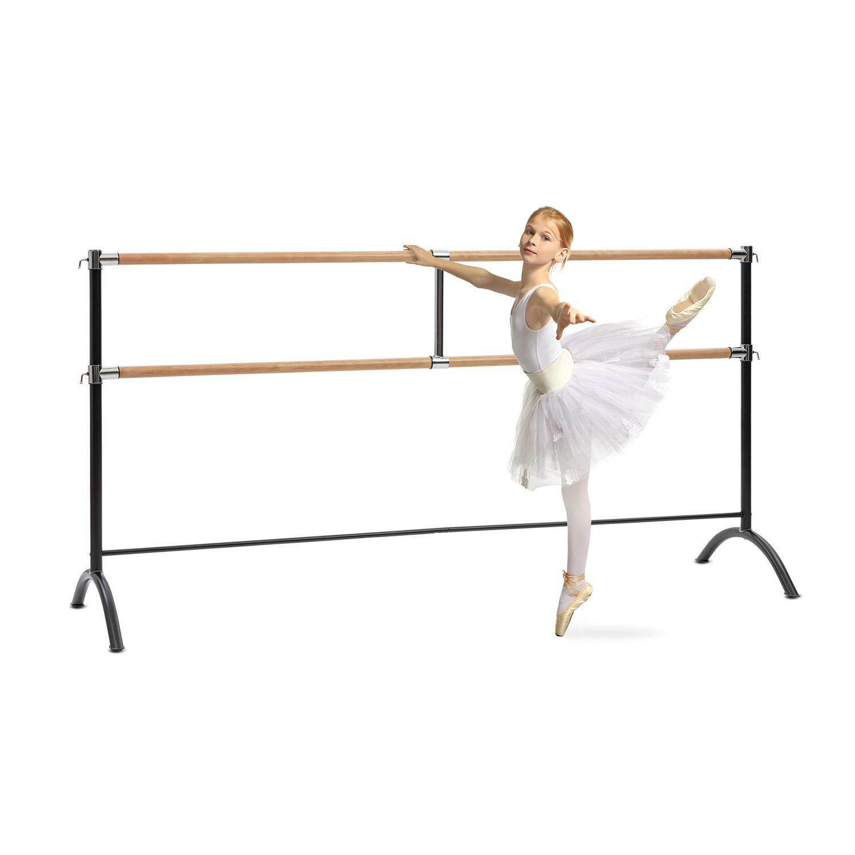Mobile Doppel Ballettstange freistehend Tanz Tanz Tanz Pilates Training flexibel 220 cm | Eleganter Stil  | Angenehmes Gefühl  277cac