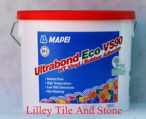 Details about Mapei Ultrabond Eco VS90 HT Vinyl / Rubber Adhesive ideal for  Ditra Mat 15Kg Tub