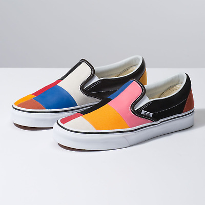 search for authentic uk availability 2018 sneakers Vans Patchwork Slip On Mulitcolor Unisex (Size 4 to 12) Unisex LIMITED SOLD  OUT | eBay