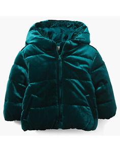 bebe Girls Long Puffer Coat 3T Green