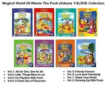 MAGICAL WORLD OF WINNIE THE POOH Complete VOL 1 2 3 4 5 6 7 8 NEW UK R2 DVD