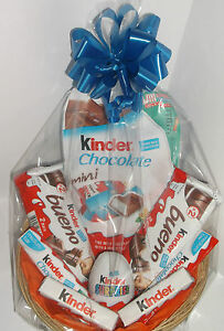 Détails Sur Kinder Oeuf Surprise Cadeau Panier Anniversaire Cadeau Pour Garçon Fille Bonbons Chocolat Afficher Le Titre Dorigine