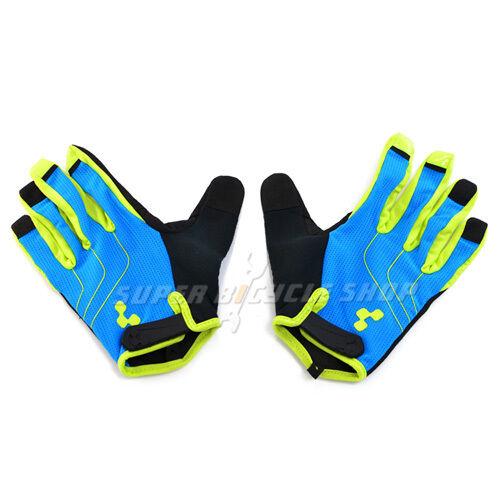 CUBE Natural Fit Gloves Long Finger Blue x Green