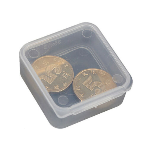 10 Pcs Small Storage Box Transparent Jewelry Pill Chip Organizer Container Case