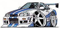 Nissan Skyline GTR R32 2 Fast 2 Furious t-shirt Paul Walker sizes S-3XL