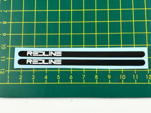 old school bmx decals stickers redline flight cranks white on black