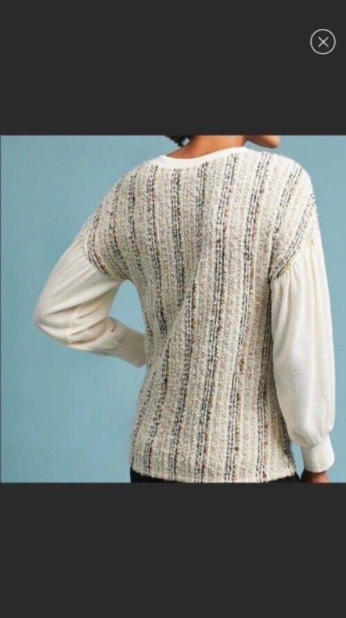 ANTHROPOLOGIE Deletta Textured Knit M - image 2