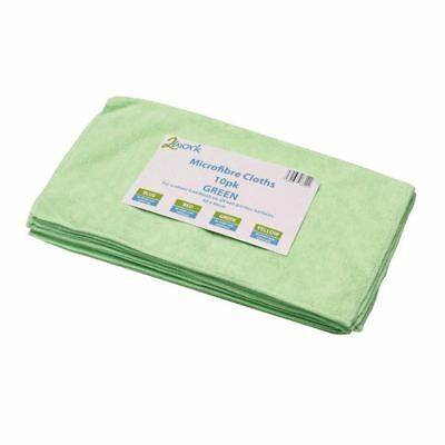 Business & Industrial cnt01624 Frugal 2work Green 400x400mm Microfibre Cloth Pack Of 10 101161gn Laundry Sheets & Wipes