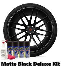 Performix Plasti Dip Matte Black Deluxe Wheel Kit Combo Spray Cans $$FREE SHIP$$