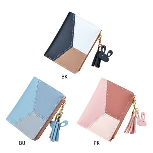 UK Women Short Small Money Purse Wallet Lady Leather Folding Coin Card Holder